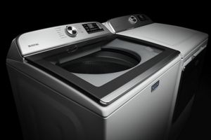 10-year limited parts warranty on the direct drive motor and stainless steel wash basket. (Visit maytag.com for warranty details.)