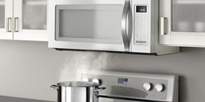 Stainless Steel 2 0 cu  ft  Capacity Steam Microwave With