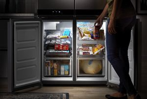 Pull-out freezer shelves