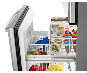 Glide-Out Wire Lower Freezer Basket with QuickSplit™ Organizer
