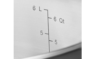 Etched Measurement Markings