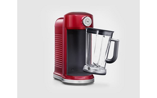 BPA-free pitcher with soft-grip handle