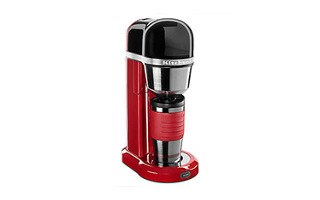 Empire Red Personal Coffee Maker With 18 Oz Thermal Mug Kcm0402er