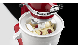 White Ice Cream Maker KICA0WH | KitchenAid on fall ice, champagne ice, whirlpool refrigerator ice, coffee ice,