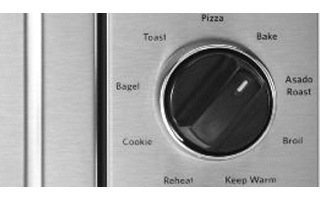 Bake, Pizza, Asado Roast, Toast, Broil, Cookie, Bagel, Keep Warm and Reheat Memory Settings