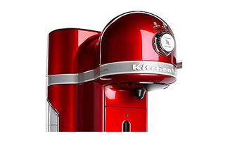Empire Red Nespresso Espresso Maker By Kitchenaid With Milk