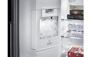 Stainless Steel 24.8 Cu. Ft. Standard Depth Side-by-Side ... on u-line ice maker, mr coffee ice maker, keurig ice maker, replacement ice maker, hobart ice maker, breville ice maker, whirlpool ice maker, bunn ice maker, sam's club ice maker, delonghi ice maker, tupperware ice maker, sony ice maker, general electric ice maker, sears ice maker, norge ice maker, summit ice maker, rca ice maker, ge ice maker, maytag ice maker, estate ice maker,