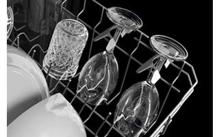 Two Stemware Holders in Middle Rack