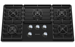 Black 36 Inch 5 Burner Gas Cooktop Architect Series Ii Kgcc566rbl