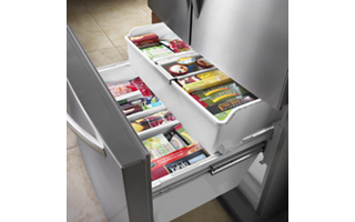 2-Tier Freezer Drawer with Storage Dividers