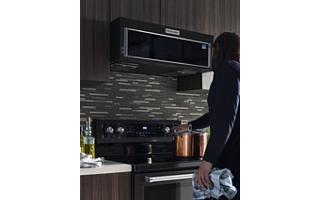 Stainless Steel 1000 Watt Low Profile Microwave Hood