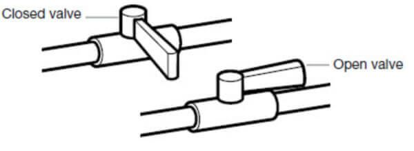 Gas supply valve illustration