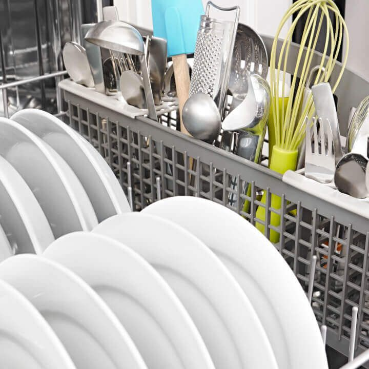 Silverware loaded in Amana® dishwasher