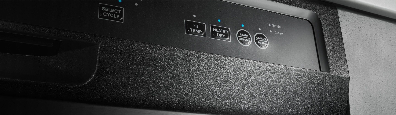 Dishwasher control console