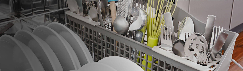 Silverware loaded in Amana® dishwasher