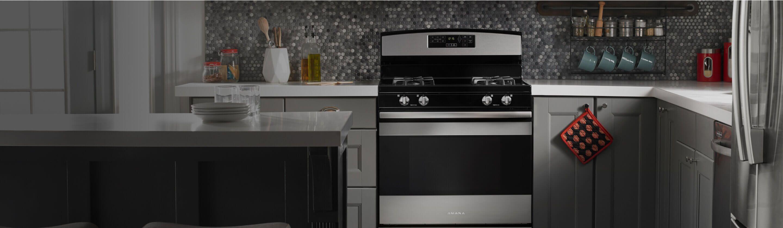 Amana® range in kitchen
