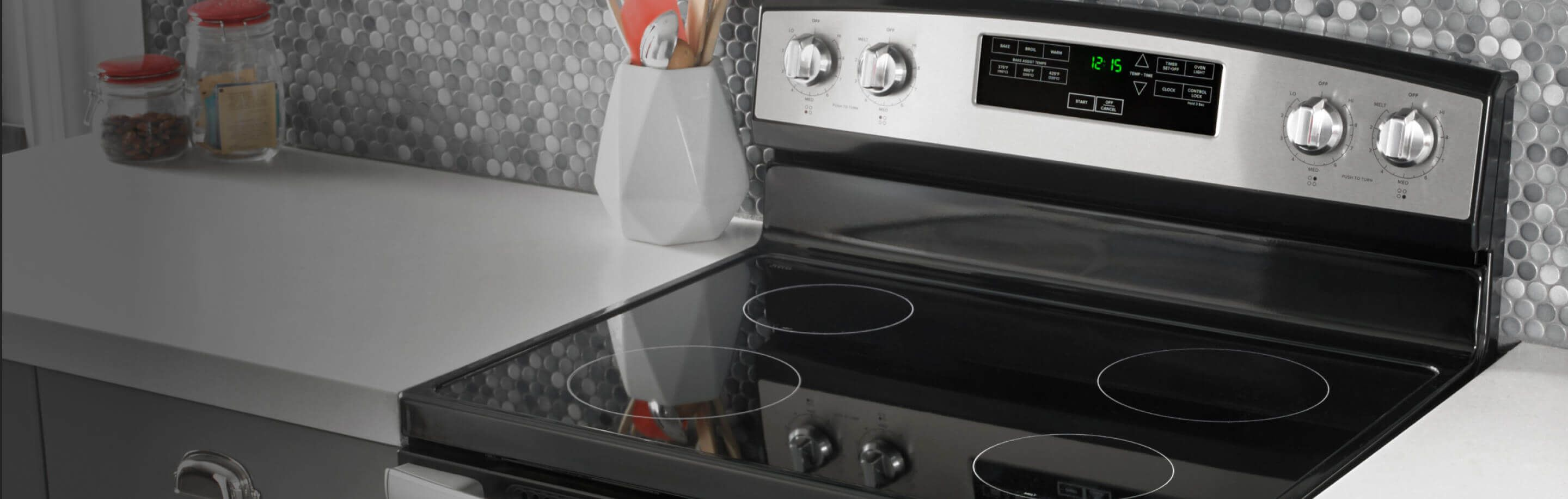 Amana® range with electric cooktop