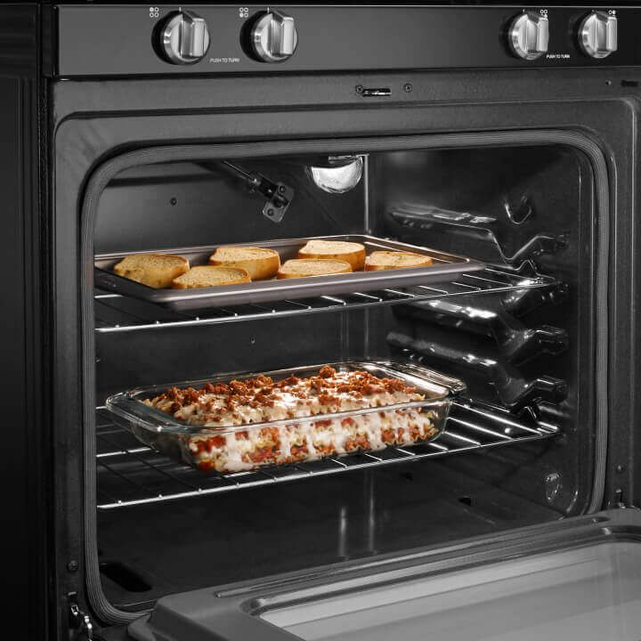 Food in Amana® range oven