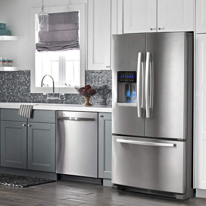 Amana® refrigerator and dishwasher