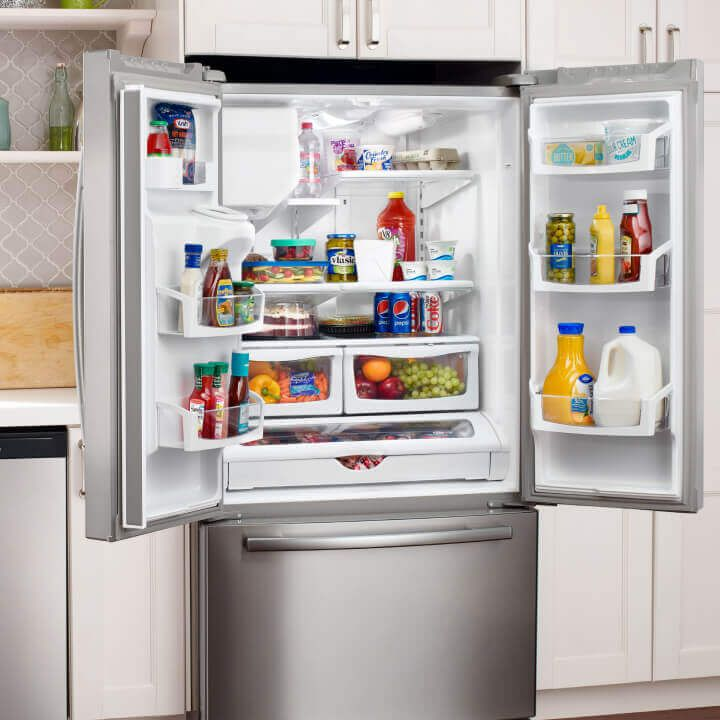 Amana® side-by-side bottom-out refrigerator