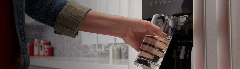 water dispensing slowly refrigerator