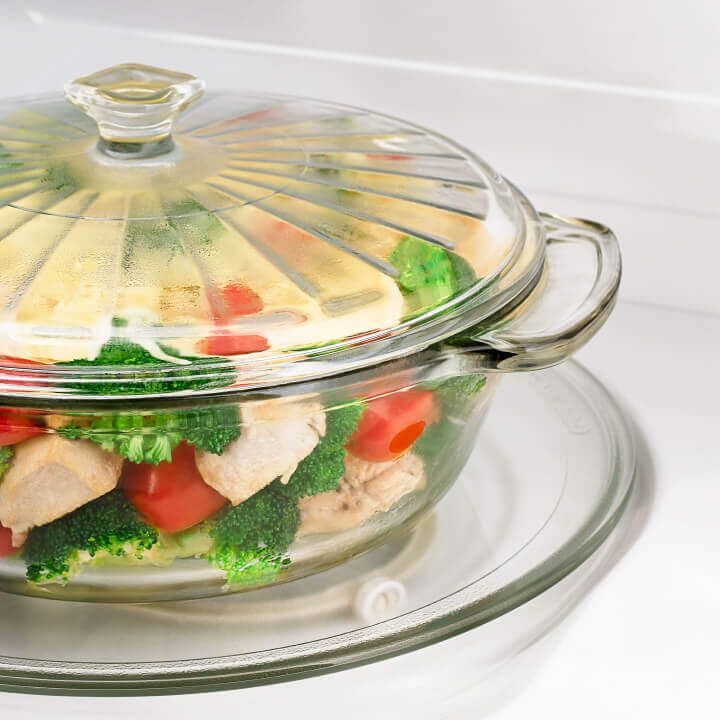 Bowl of vegetables in Amana® microwave
