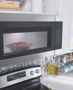 Food cooking in Amana® microwave