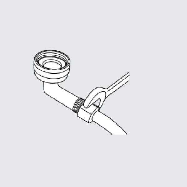 Water valve tightening illustration, part 3