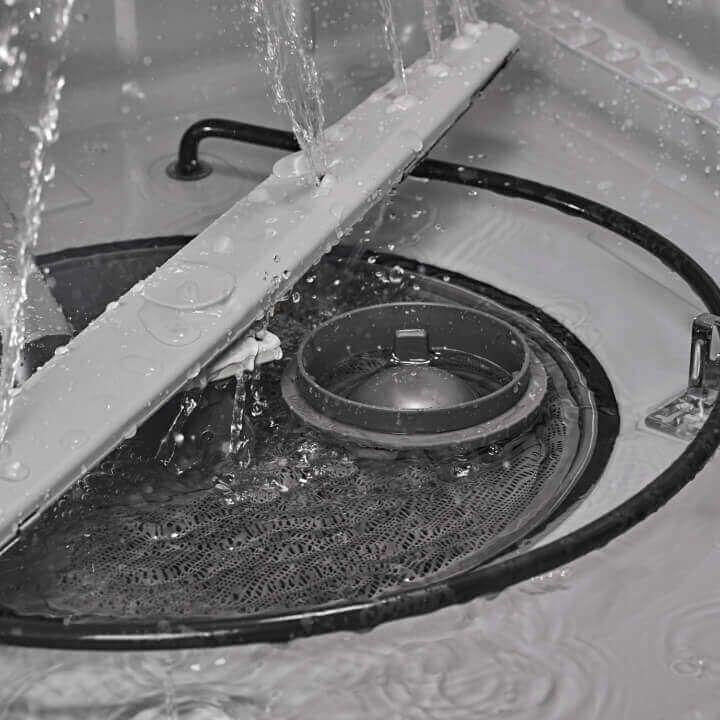 Bottom interior of Amana® dishwasher