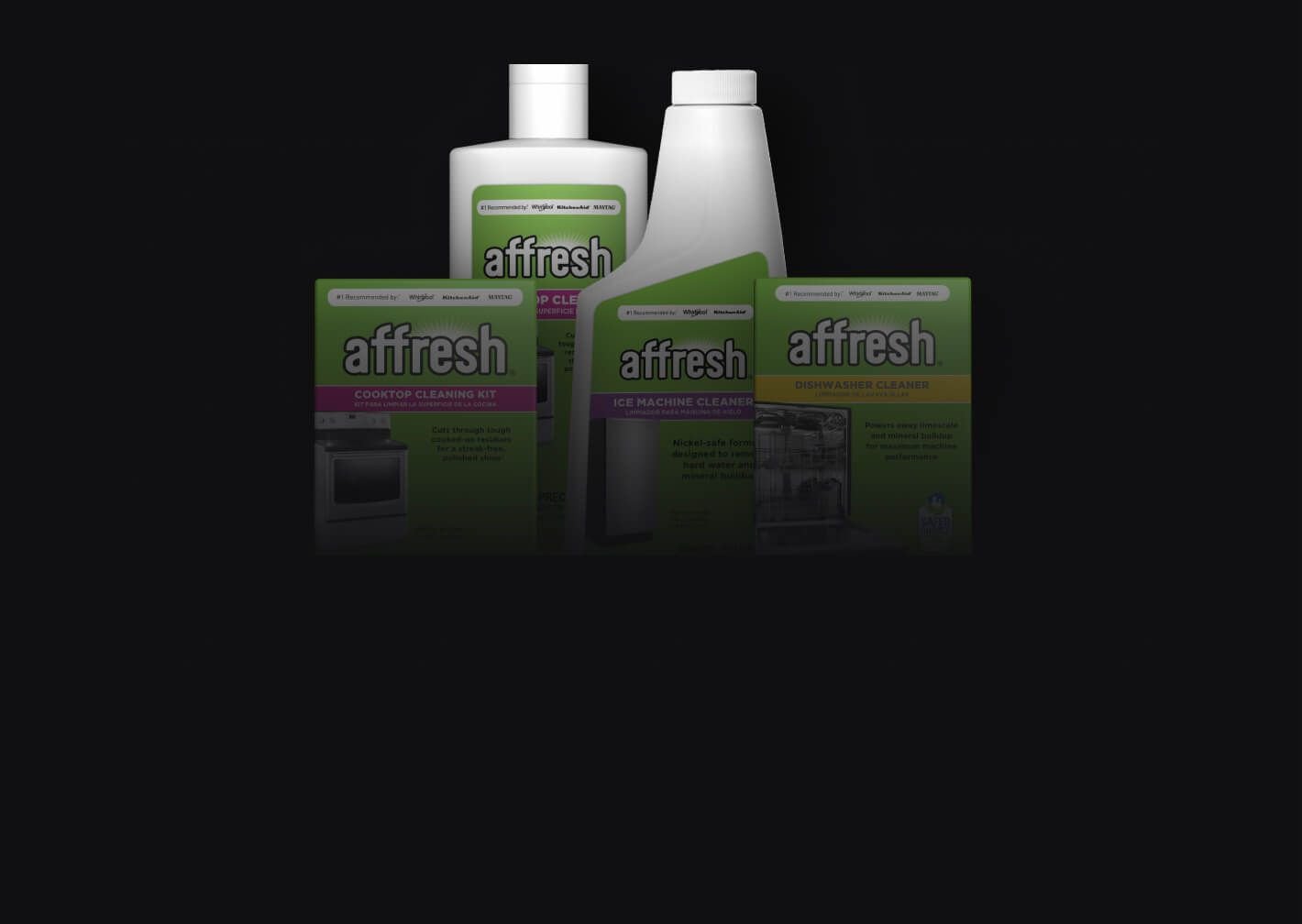A selection of affresh® cleaners.