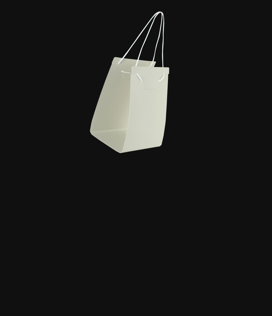 Bag caddy isolated on a black background.