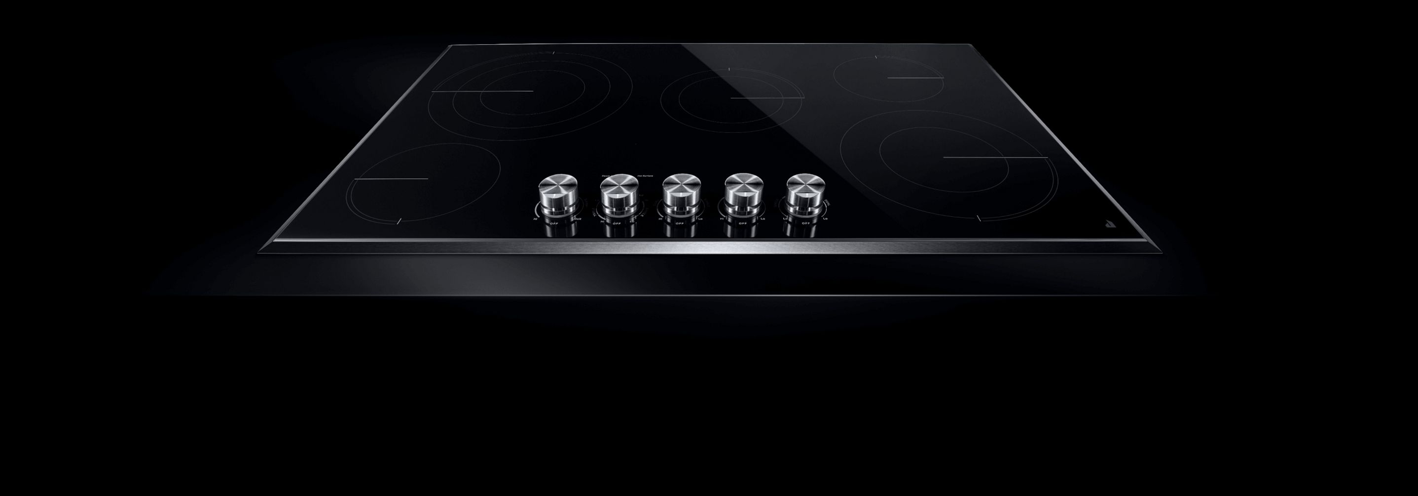 A JennAir® Lustre Stainless Electric Radiant Cooktop.