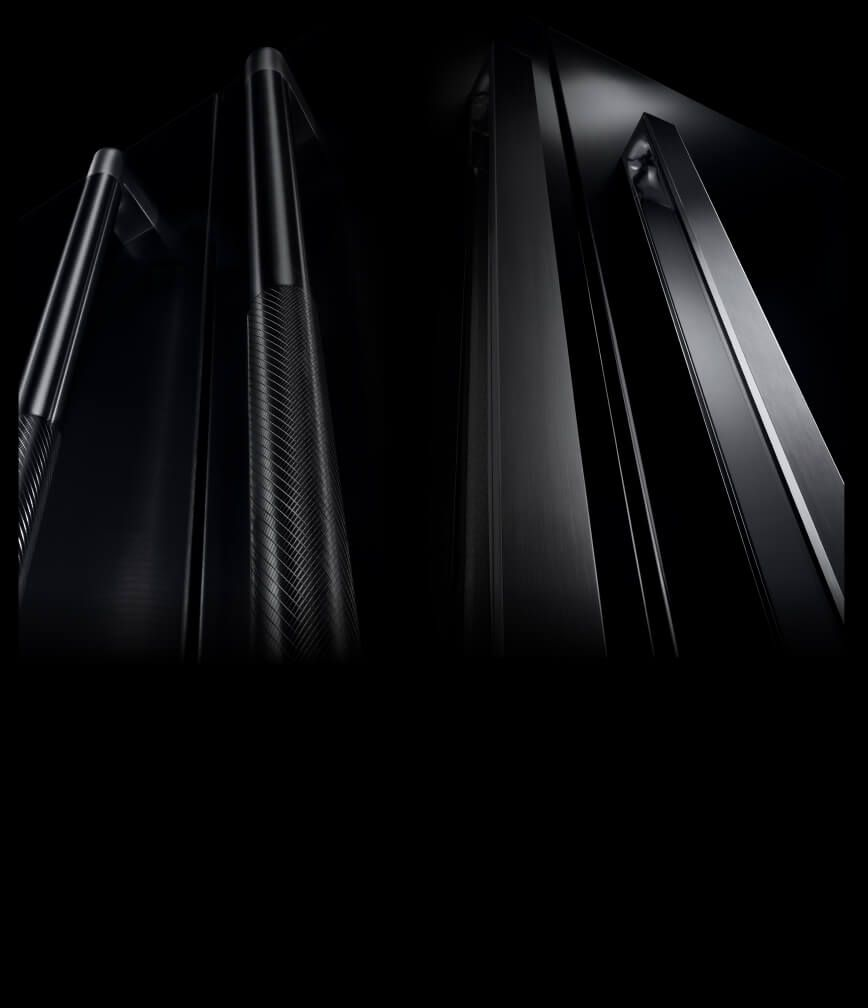 RISE™ and NOIR™ design handles side by side.