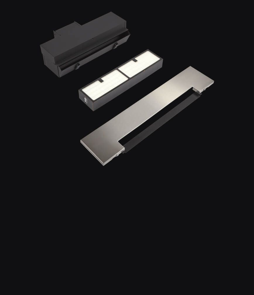 A duct-free kit isolated on a black background.