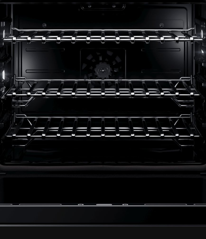 The interior of a JennAir® Wall Oven, showing the racks.
