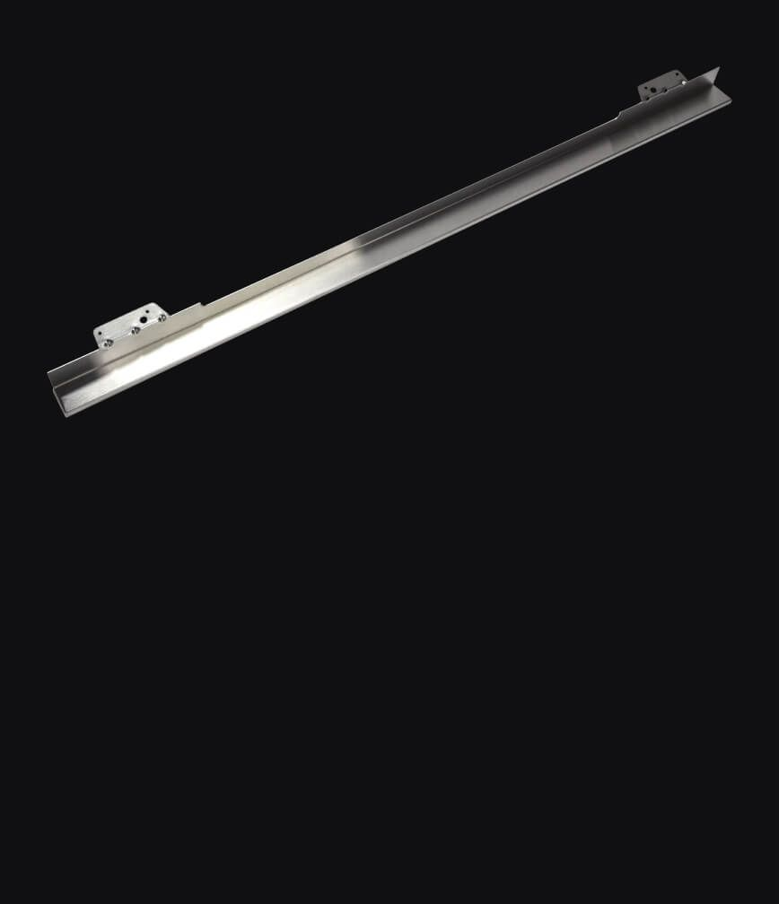 A heat deflector isolated on a black background.