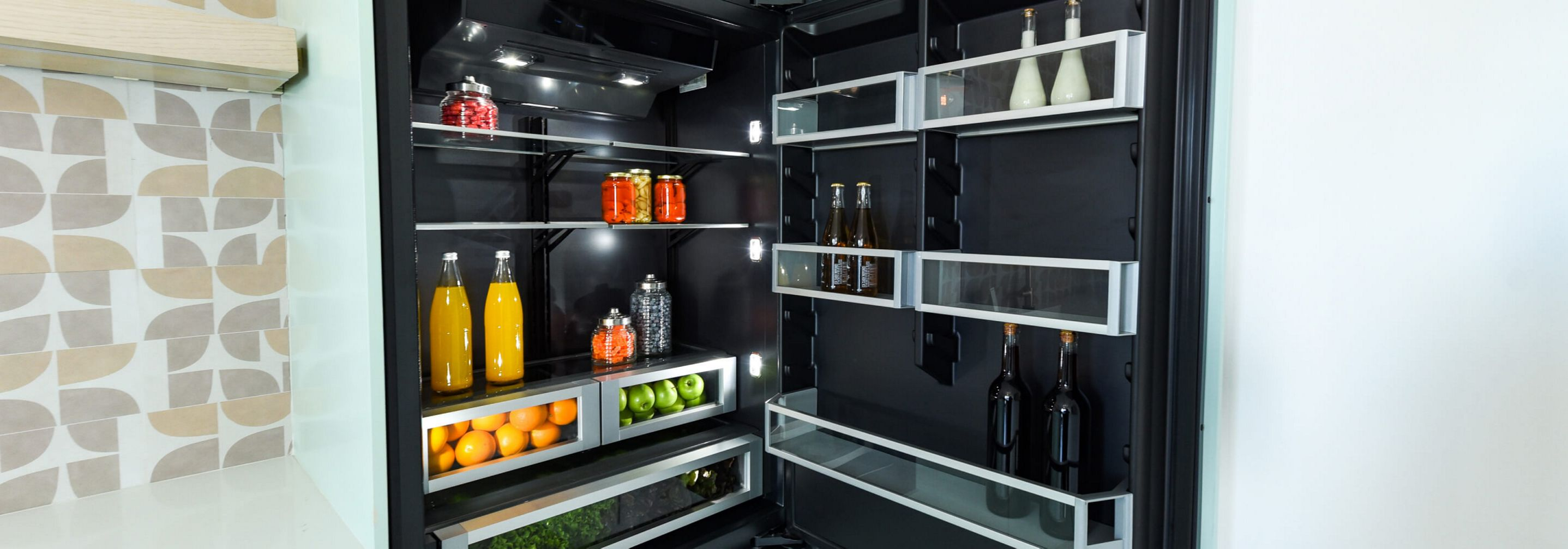 A JennAir® Built-In Bottom Freezer Refrigerator.