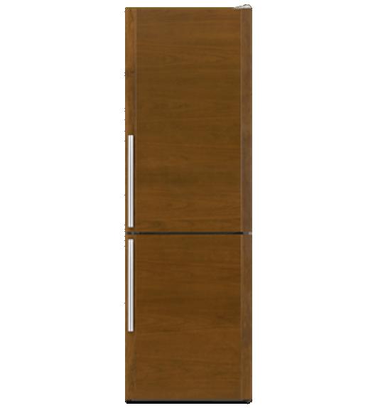 A 24-inch Built-In Bottom Freezer Refrigerator.