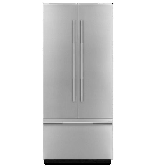 A JennAir® 42-inch Built-In French Door Refrigerator.