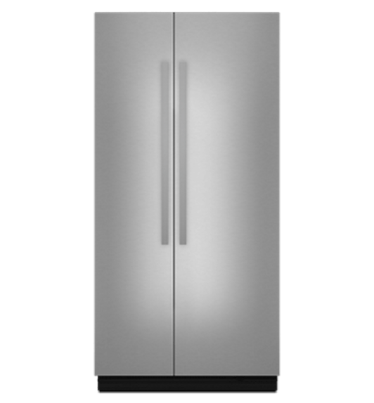 A 42-inch Built-In Side-By-Side Refrigerator.