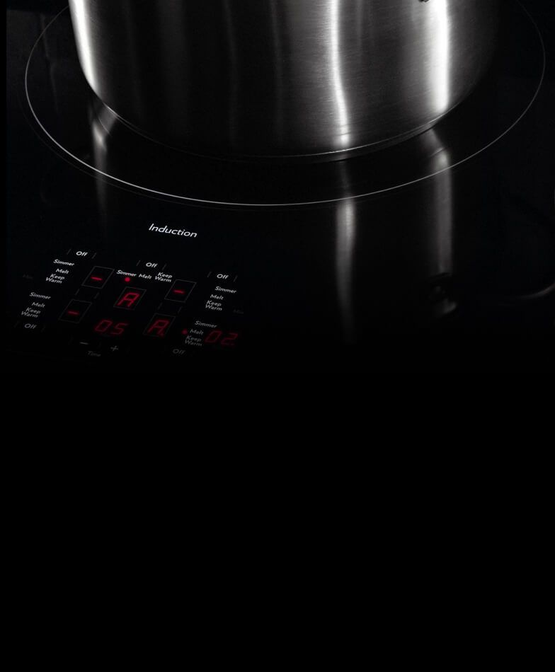 A pan on a JennAir® induction element.