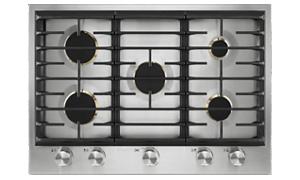 A JennAir® 5-Burner Low-Profile Gas Cooktop.
