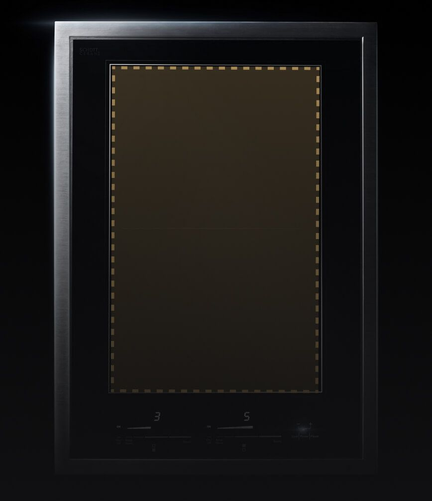 The Induction Flex Cooktop with a graphic showing the flex zone.