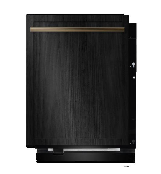 A panel-ready 24-inch dishwasher.