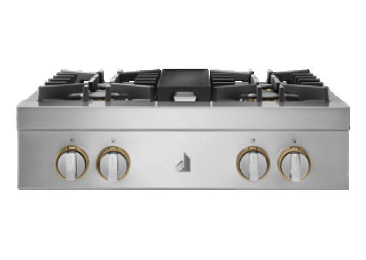 "A 30"" RISE™ Design Gas Rangetop."