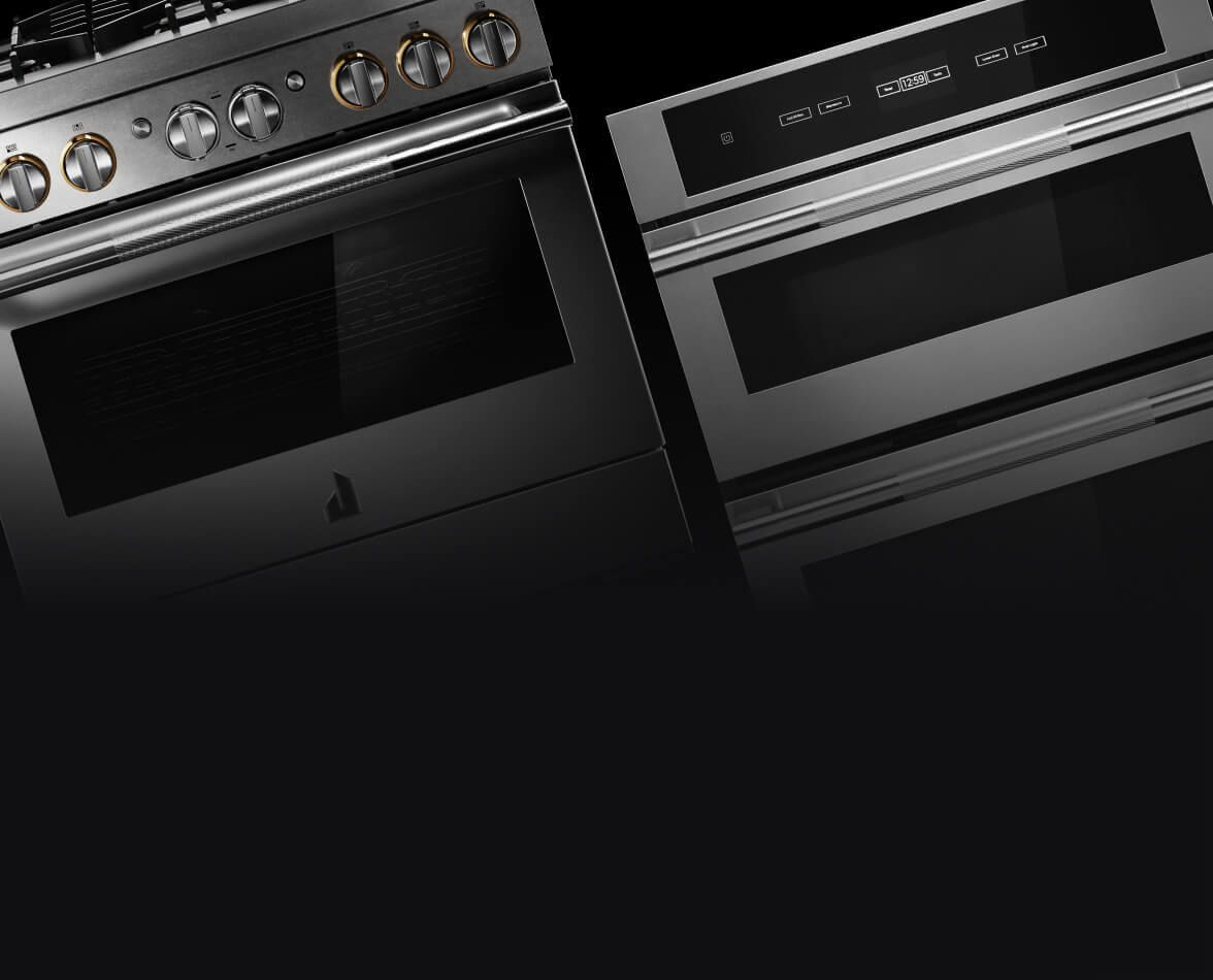 JennAir® appliances on a black background.