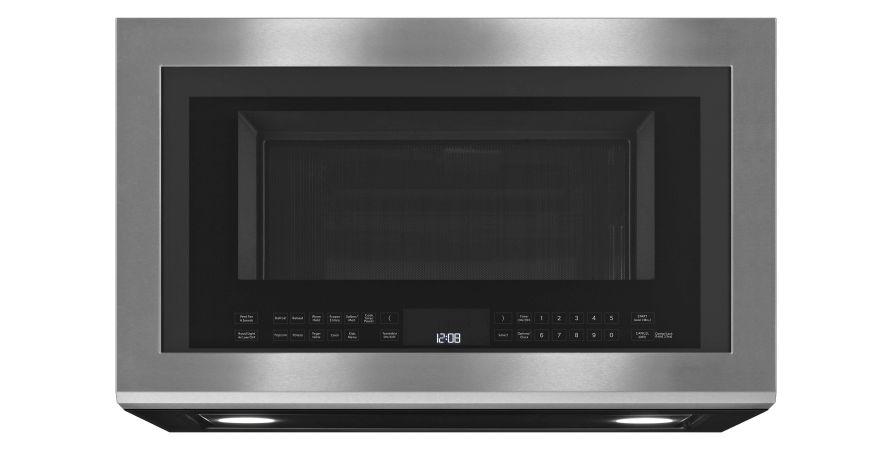 A JennAir® Over-The-Range Microwave.