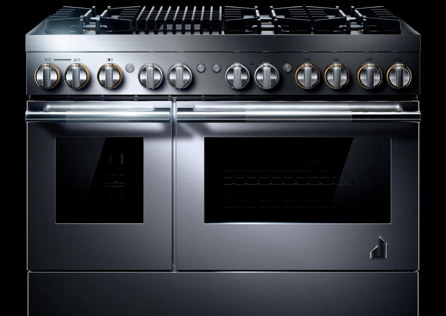 """A 48"""" RISE Professional-Style Range with a Grill."""