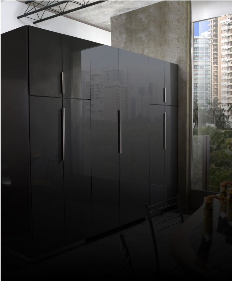 JennAir[®] built-in refrigerators installed with custom full-height panels.