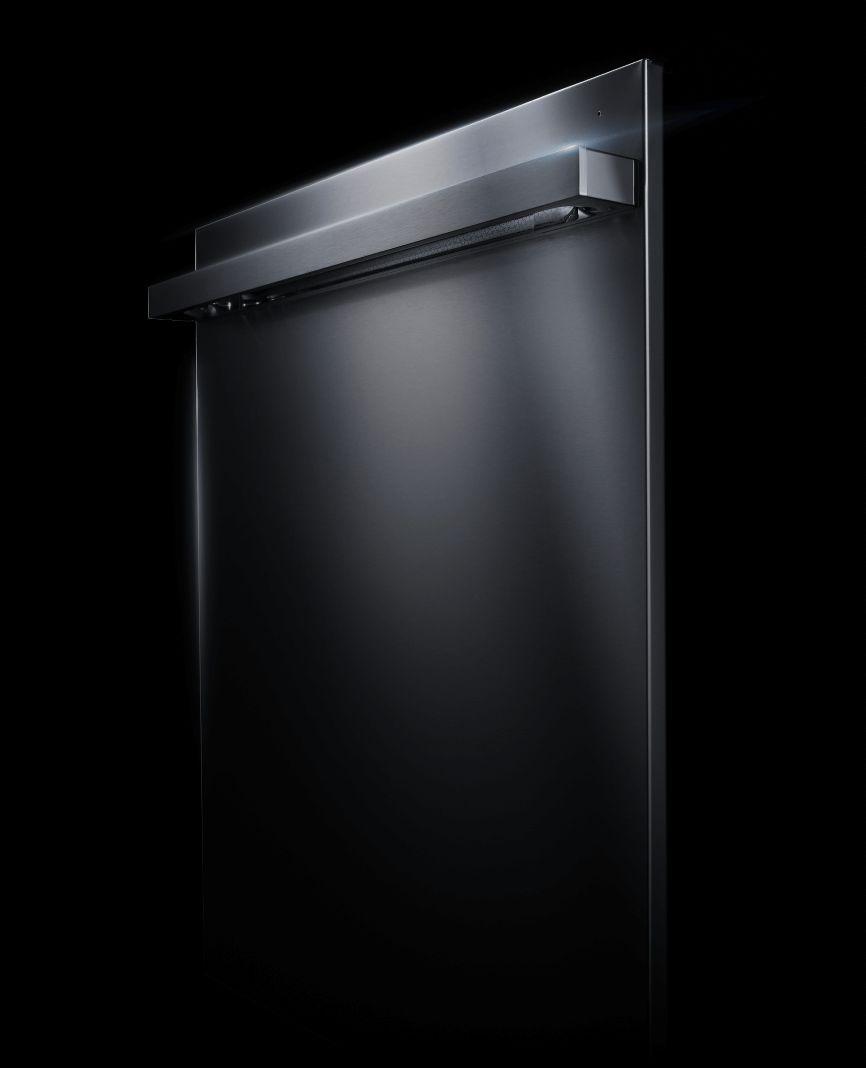 A profile of a JennAir® NOIR™ Design dishwasher.
